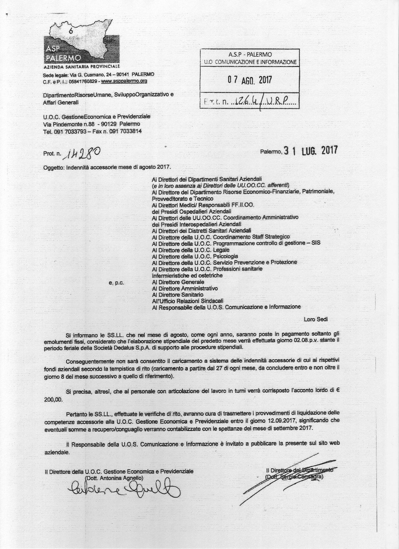 Comunicazione Asl Detrazione 50 Modulo azienda u.s.l. 6 palermo